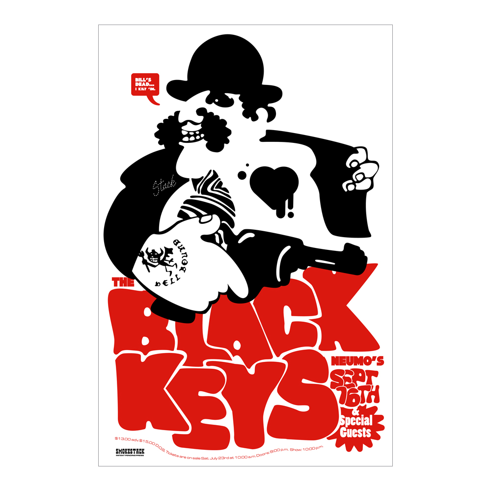 The Black Keys 2004 Seattle Poster
