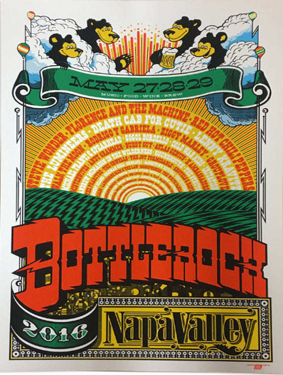 BottleRock 2016 Napa Valley, CA Festival Poster 1 - Regular Edition