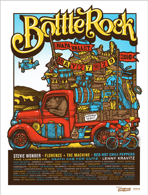 BottleRock 2016 Napa Valley, CA Festival Poster 2 - Regular Edition