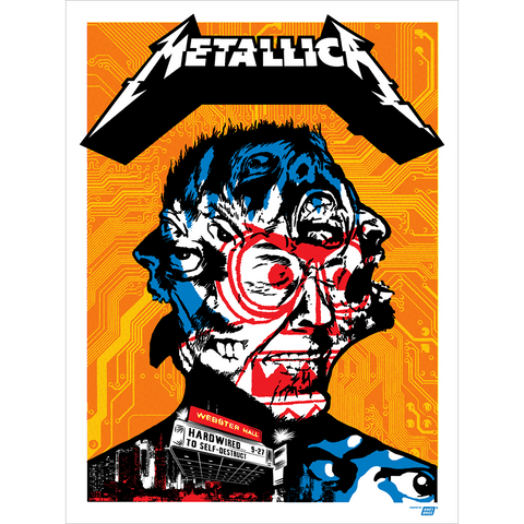 Metallica 2016 Webster Hall, New York, NY Poster - Regular Edition