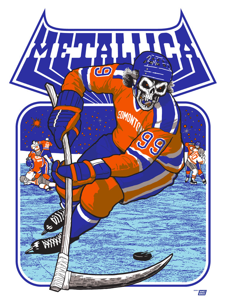 Metallica 2017  Commonwealth Stadium  Edmonton, AB Poster - Tour Edition of 70