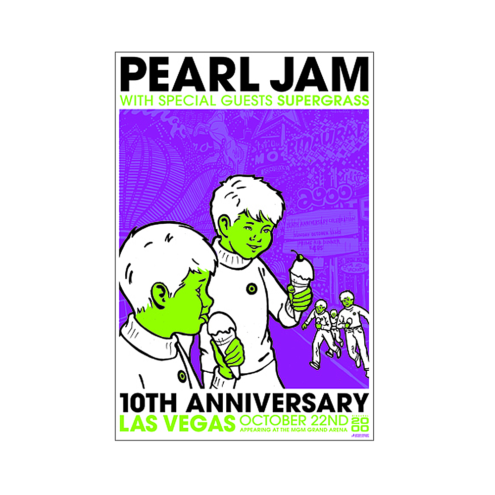 Pearl Jam 2000 Las Vegas 10th Anniversary Concert Poster (Special Edition)