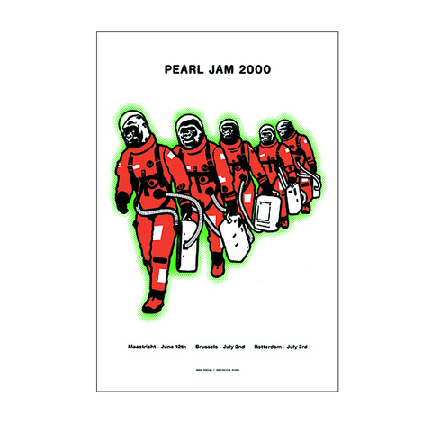 Pearl Jam 2000 Holland Concert Poster