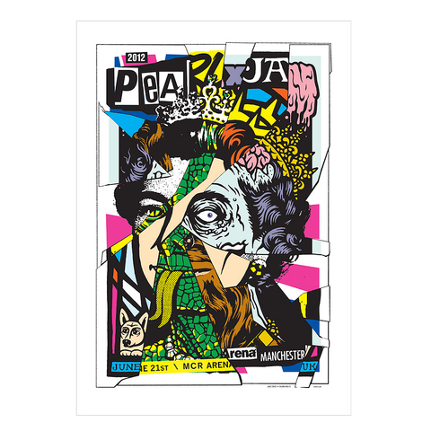 Pearl Jam 2012 Manchester, UK Poster