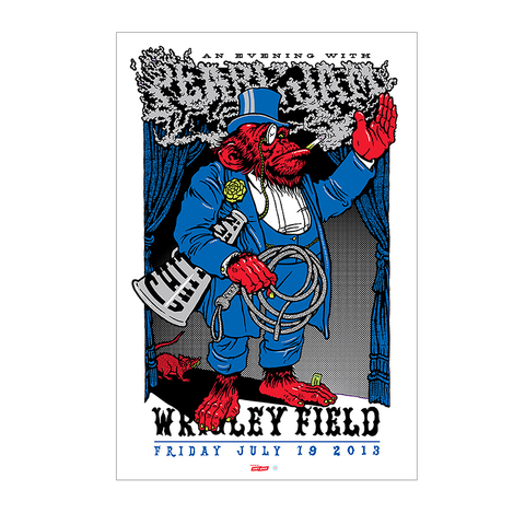 Pearl Jam 2013 Wrigley Field Chicago 'Harry Caray Variant' Poster