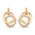 Double hoop 18K rose gold diamond earrings