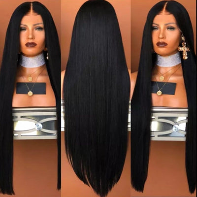 Blaire Silky Straight Front Lace Wig 150% Density - Cami Luxe Hair