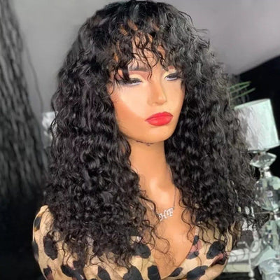 Deion Deep Curly Lace Front Wig Bob with Bang - Cami Luxe Hair