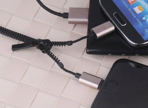 Zipper Lightning Charging Cable