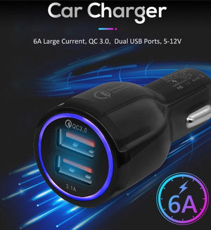 Mobile phone fast charge QC 3.0 usb car charger