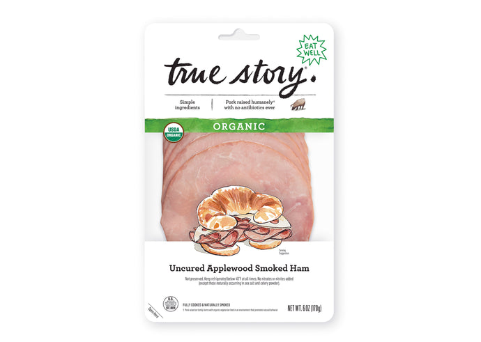 Organic Uncured Applewood Smoked Ham (6 packages)
