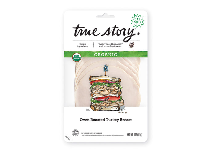 Organic Oven Roasted Turkey Breast (6 Packages)