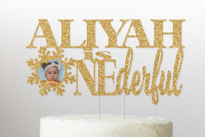 ONEderful Personalized Photo Cake Topper