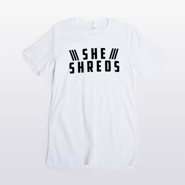 White Official She Shreds Shirt
