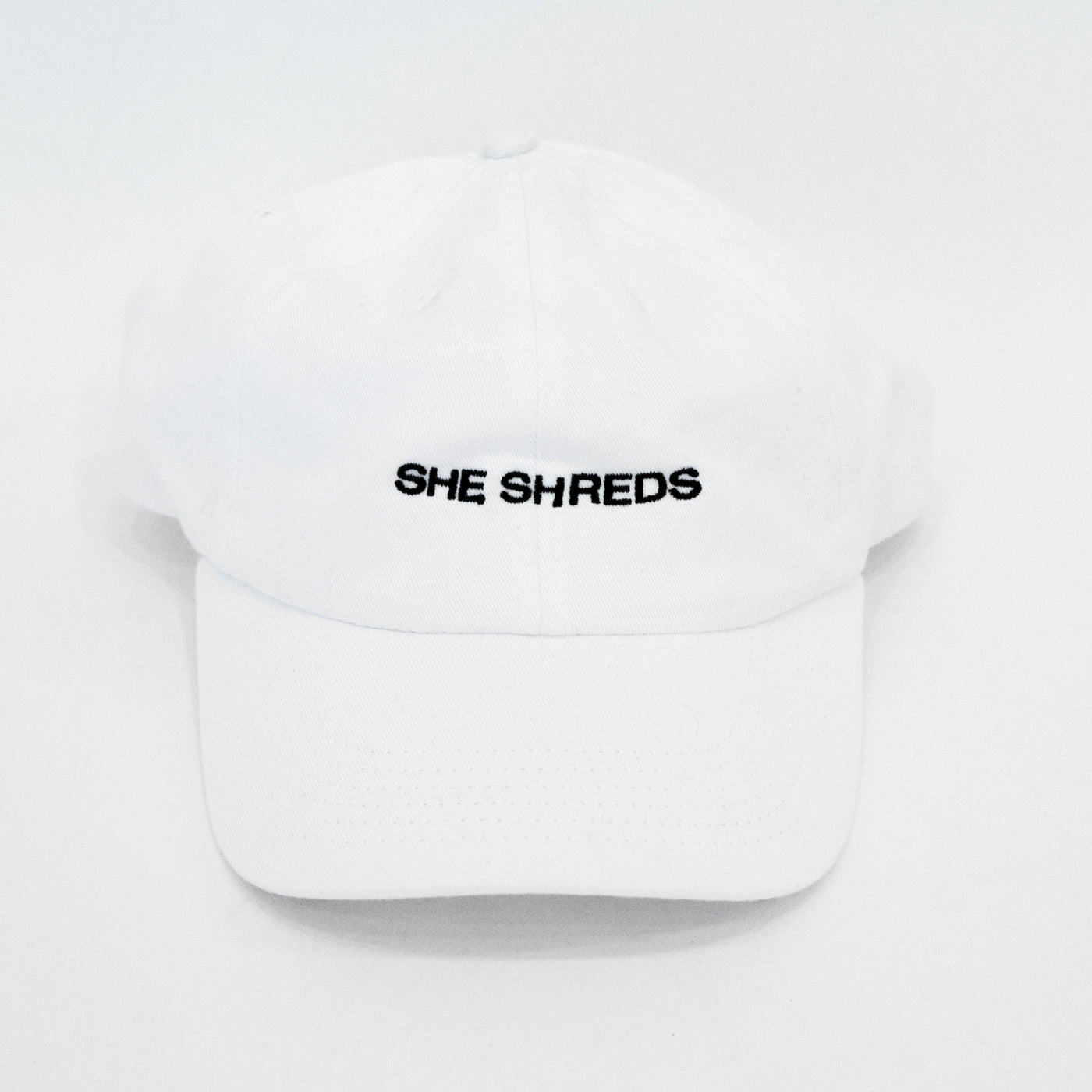 She Shreds Hat in Classic White