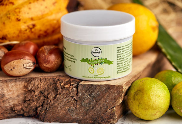 Natural Nigerian™ Lemon, Lime & Alpha Hydroxy Acid Black Soap