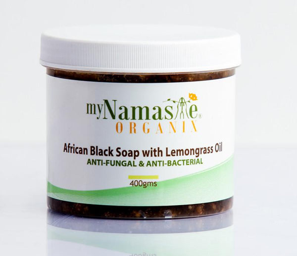myNamaste Organix  African Black Soap with Lemongrass Oil