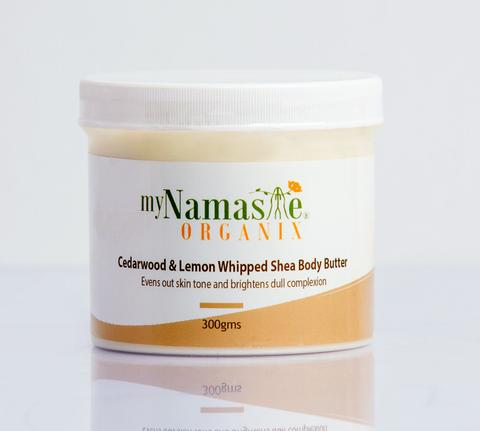 myNamaste Organix  Cedar wood and Lemon Whipped Shea Body Butter