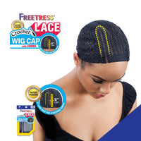FreeTress Lace Part Wig Cap For Braid And Weave With Combs