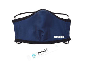 Open image in slideshow, LUCKEfit Reusable Deep Blue Mask -infused with ViralOff®