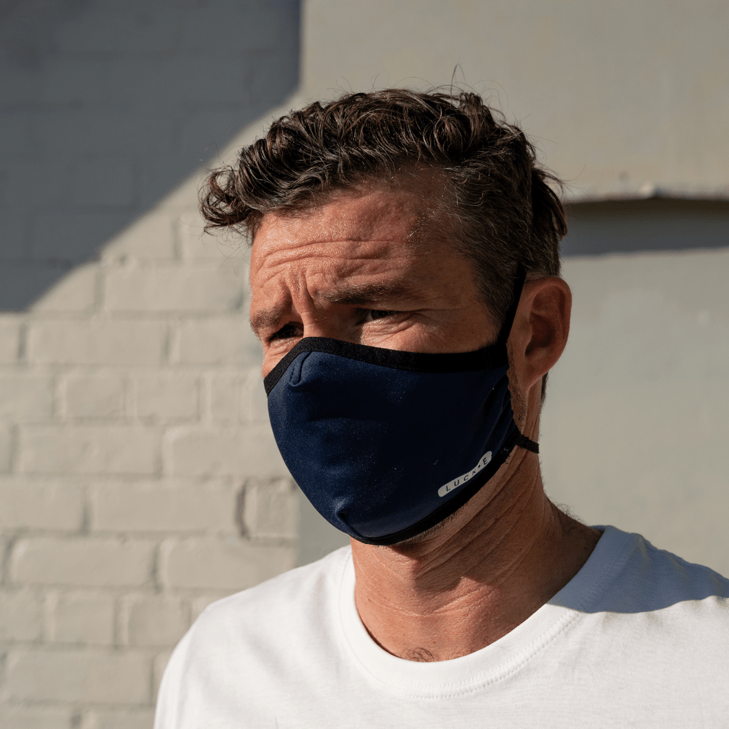 LUCKEfit Reusable Deep Blue Mask -infused with ViralOff® - LUCKE NZ
