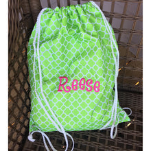 Load image into Gallery viewer, Personalized Patterned Drawstring Bag
