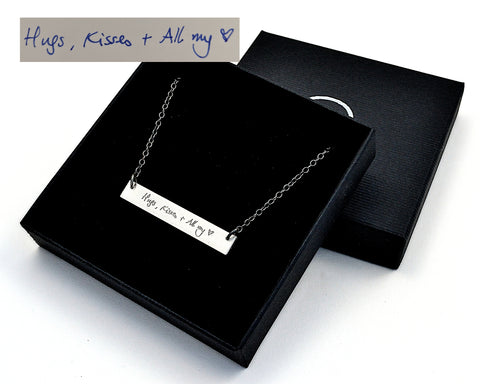 Sterling silver custom handwriting necklace