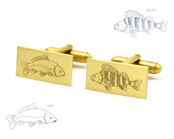Custom Artwork Cuff Links, Your Design Engraved