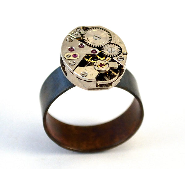 Steampunk Ring, Sterling Silver
