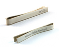 Engraved Silver Tie Clip, Secret Message