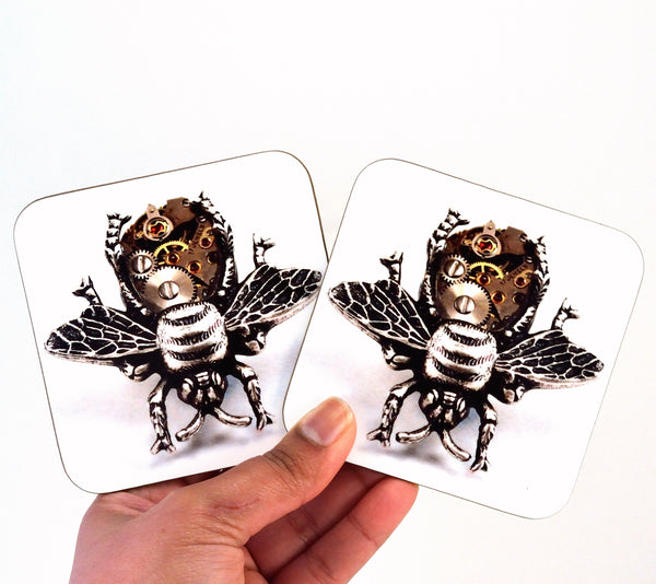 Steampunk Bee Coasters