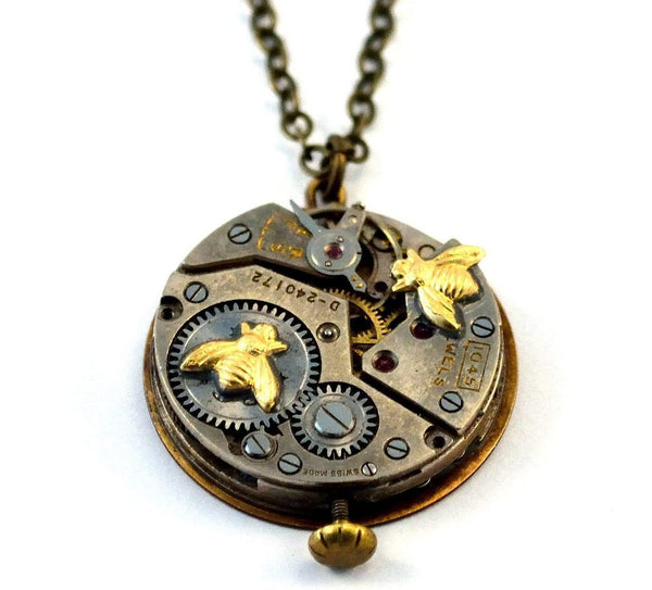 Steampunk Worker Bee Necklace