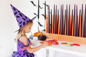 Large Set Candles Only | Halloween Color Candles