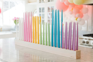 Large Base + Birthday Party Candle Set