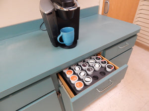 2 Coffee Pod Storage Organizers Tray Drawer Insert Washable 11.9 X 15.9 Inches Holds 35 Each (70 Total) Compatible with Keurig K-Cup