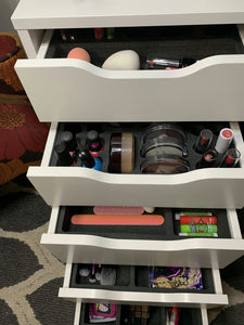 "5 Makeup Drawer Organizer Set Nail Polish, Lipstick, Compacts Fits IKEA Alex & Others 11.5"" x 14.5"""