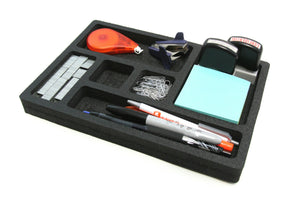 "Desk Drawer Organizer 7.5"" x 10.9"" for Shallow Drawers"