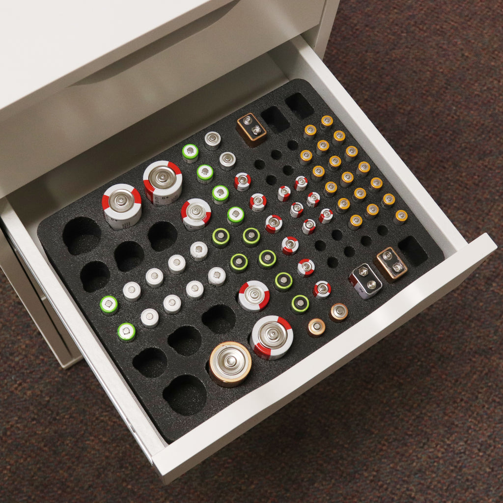 "Battery Organizer Holds 85 Batteries 8.5"" x 11"""