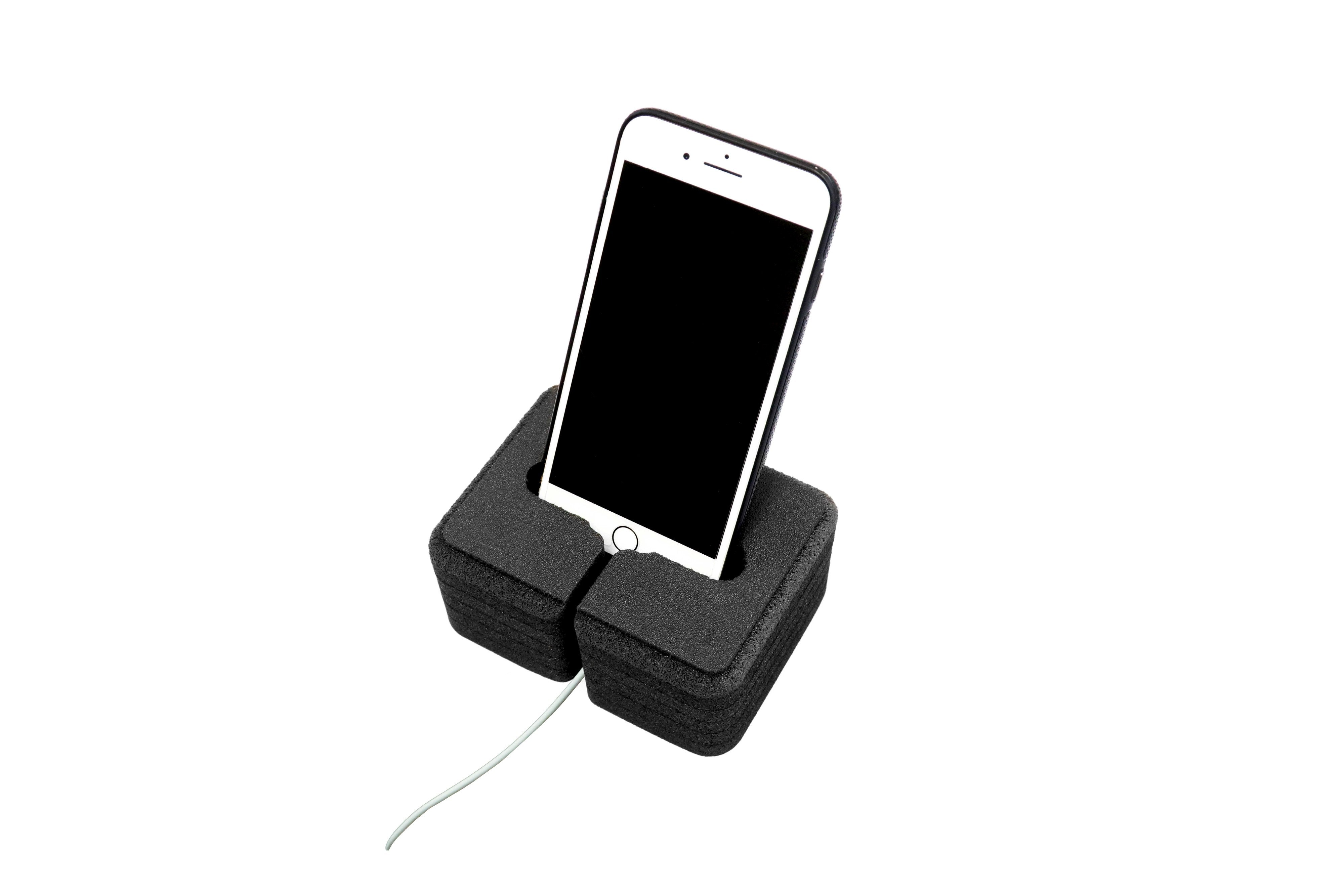 3 Cell Phone Stands Cradle Holder Fits Most Smartphones Compatible with Apple iPhone Samsung Galaxy Google Pixel Motorola LG IOS Android
