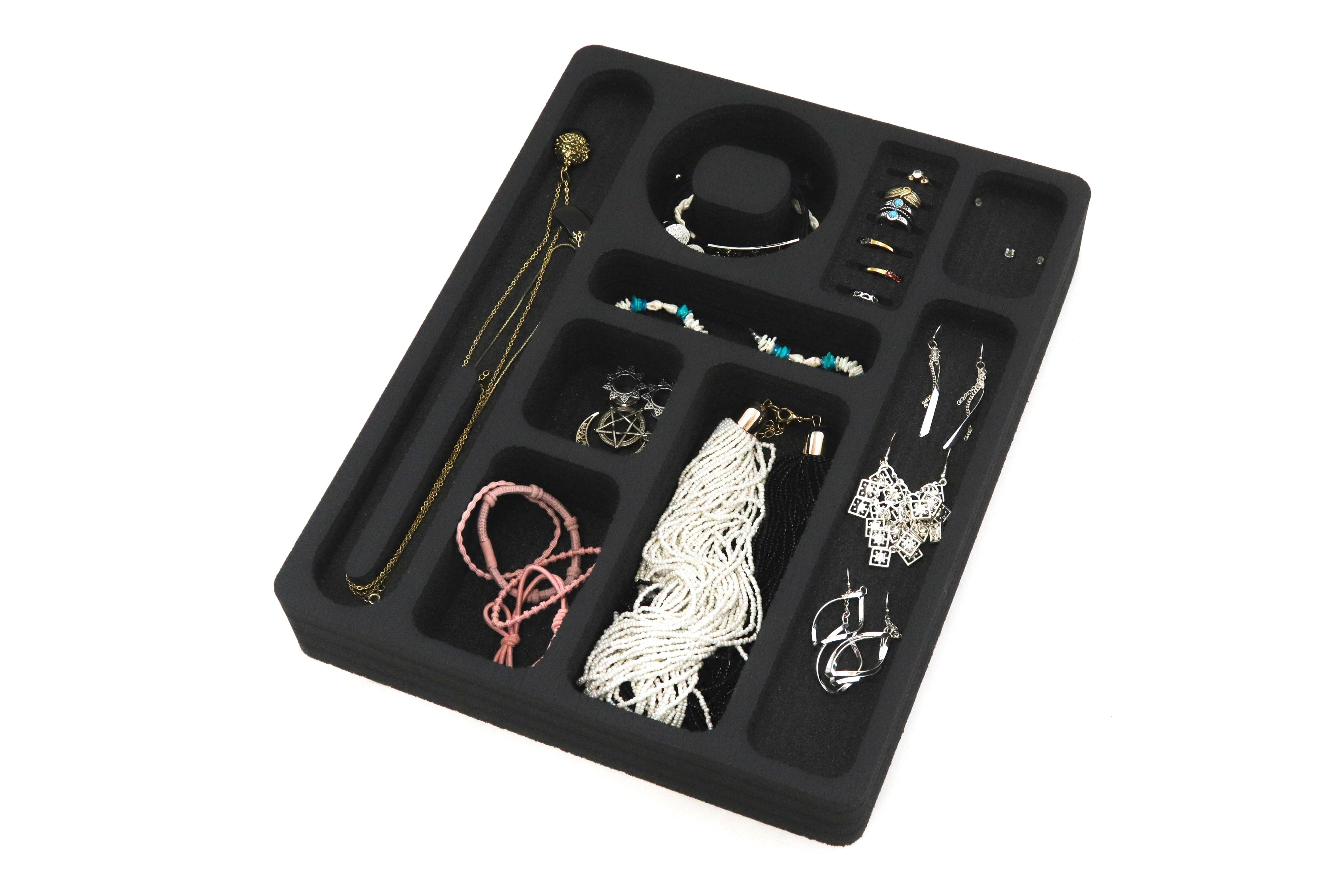 "Jewelry Drawer Organizer (Rings, Necklaces) Fits IKEA Alex & Others 11.5"" x 14.5"""