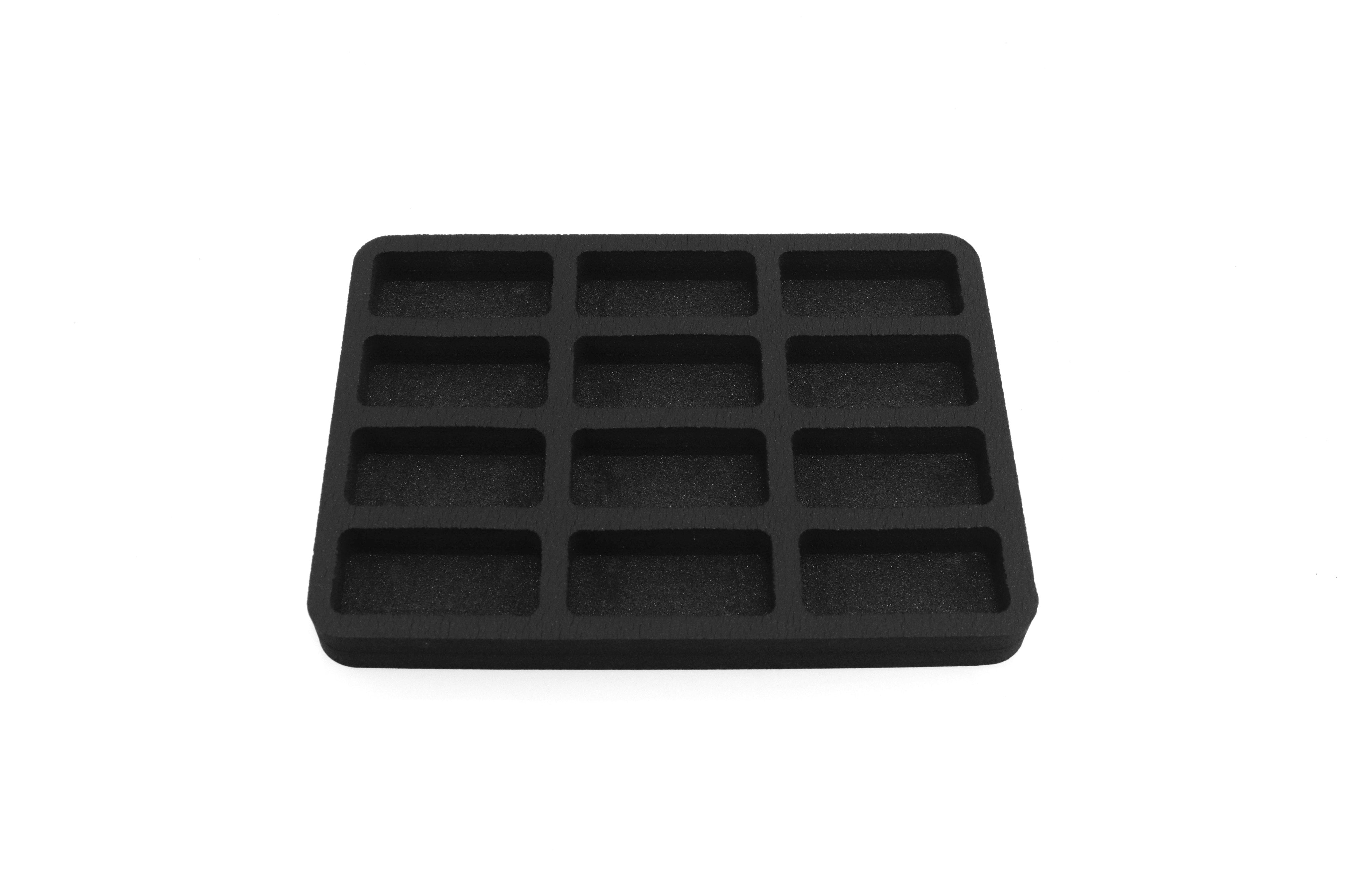 3 Toy Car Drawer Organizers Compatible with Hot Wheels and Matchbox Cars 7.9 x 10.9 x 1 Inches Black Foam 12 Compartments