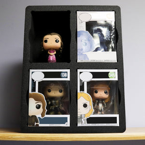 "Protective Case Organizer Fits Funko Pop Holds 4 10.7"" x 14.2"""