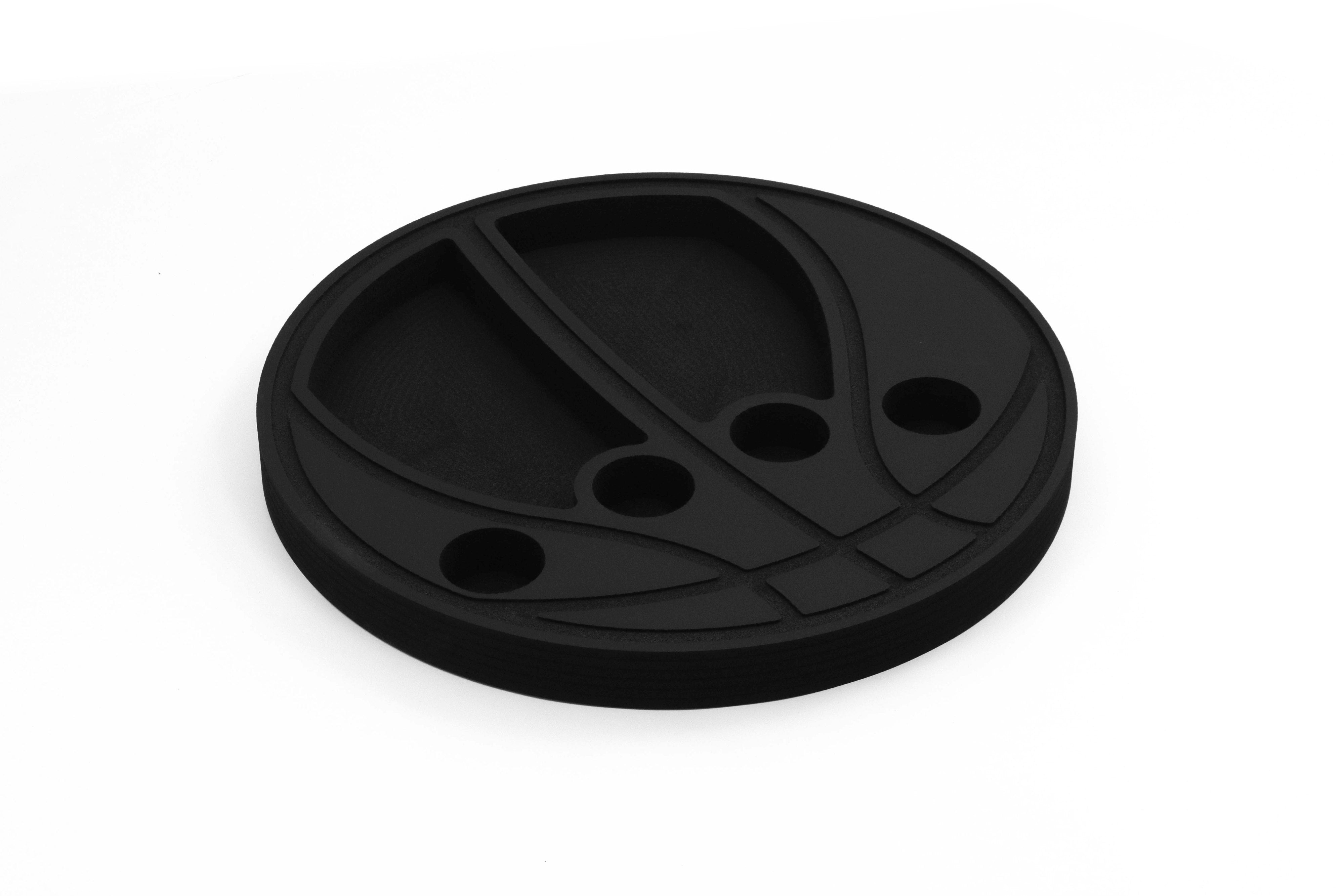 Basketball Shaped Drink Holder Floating Refreshment Table Tray for Pool or Beach Party Float Lounge Durable Black Foam 6 Compartment 2 Feet