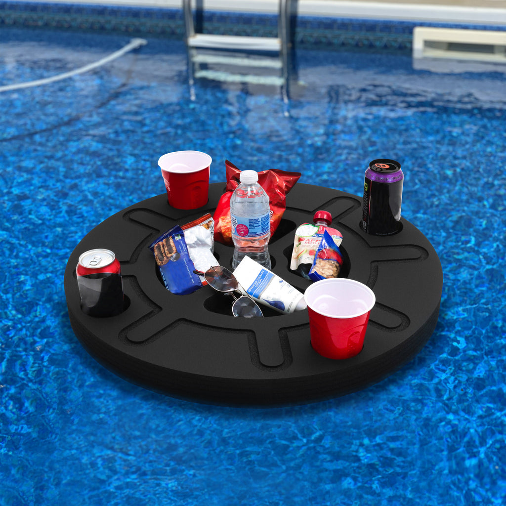 Floating Ship Wheel Refreshment Tray Pool Float