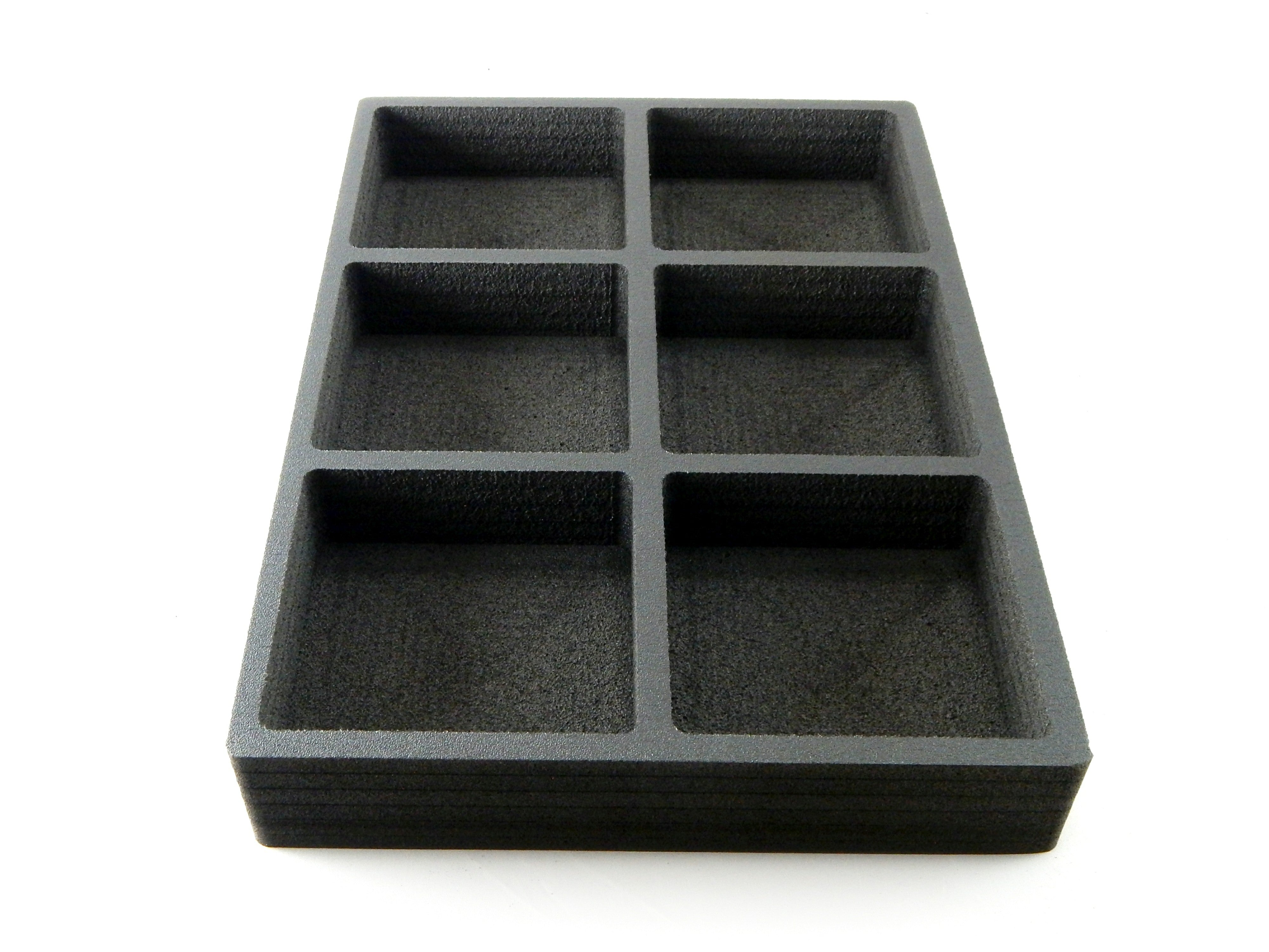 Polar Whale Sample Storage Tray Lab Organizer Holder Organization Stand Non-Slip Anti-Rattle Durable Black Foam 16 x 11 Inch 6 Compartments