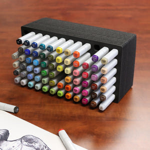 Polar Whale Art Marker Storage Tray Organizer Pen Pencil Brush Storage Design Stand Supply Horizontal Storage Non-Scratch Non-Rattle Washable Compatible with Copic and More Holds 72