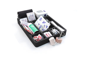 Lab 2 Drawer Organizers Black Foam Storage Tray Office Practice Medication Cart Organization 12 x 16 Inch 12 Compartments