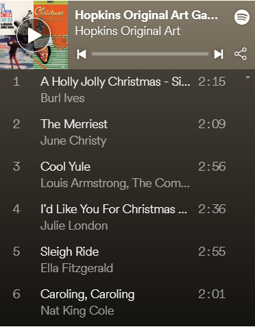Hopkins Original Art Christmas Mix on Spotify