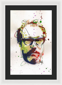 Portrait Of Julian Schnabel - Framed Print