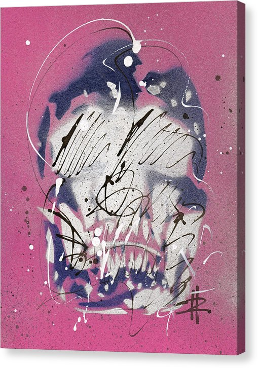 Skull III - Canvas Print by Ryan Hopkins